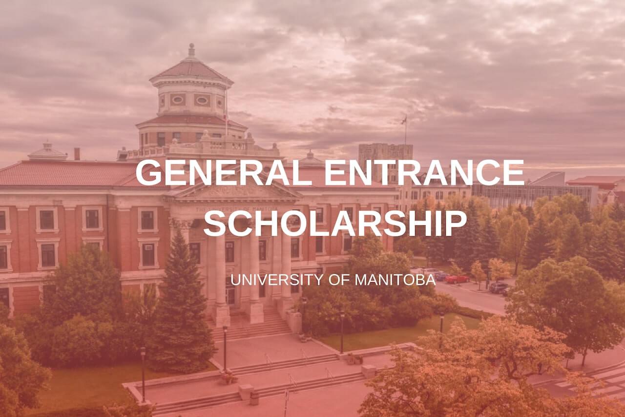 học bổng Genera Entrance-manitoba University