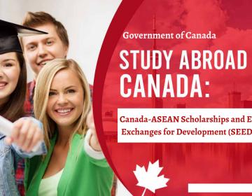 HỌC BỔNG CANADA – ASEAN VÀ TRAO ĐỔI GIÁO DỤC ĐỂ PHÁT TRIỂN (SEED) NĂM HỌC 2021 – 2022